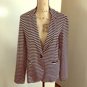 Philosophy Jacket, Women's Collar 1-Button Stripe